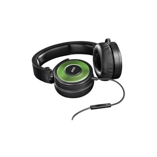 iPhone Kopfhörer AKG K619 - Schwarz-Hellgrün