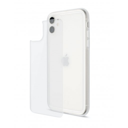 iPhone 11 Handyhülle Artwizz Bumper + Glasschutz - Transparent