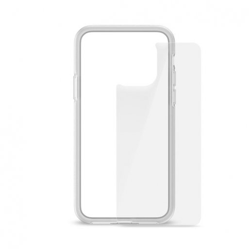 iPhone 11 Pro Handyhülle Artwizz Bumper + Glasschutz - Transparent