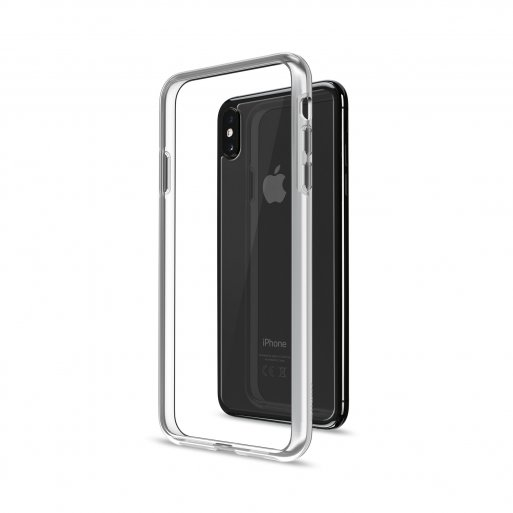 iPhone XS Max Handyhülle Artwizz Bumper + Glasschutz - Transparent