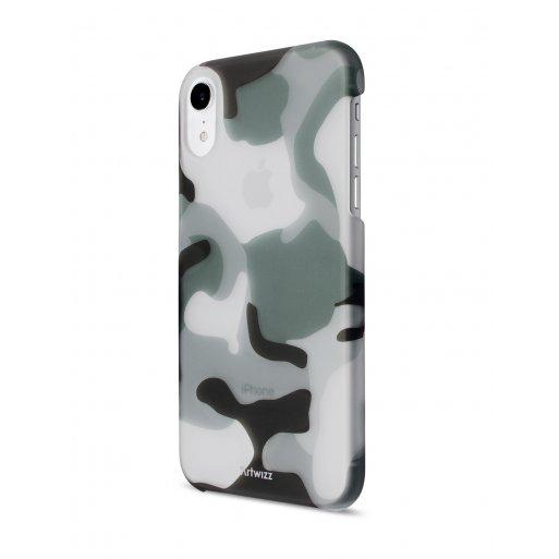 iPhone XR Handyhülle Artwizz Camouflage Clip - Dunkelgrün-Weiss-Grau