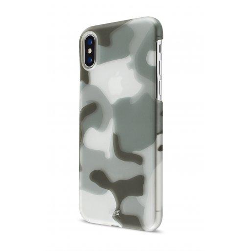 iPhone Handyhülle Artwizz Camouflage Clip - Dunkelgrün-Weiss-Grau