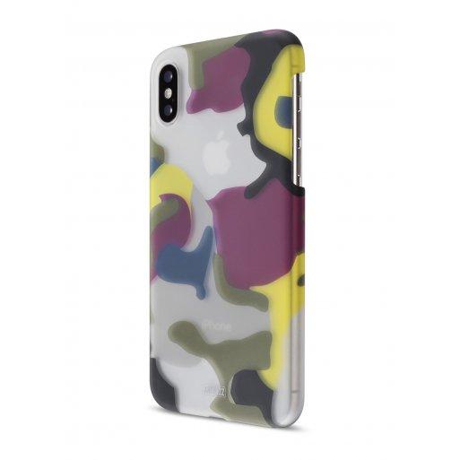 iPhone Handyhülle Artwizz Camouflage Clip - Grün-Gelb-Rot