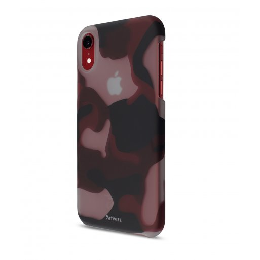 iPhone XR Handyhülle Artwizz Camouflage Clip - Rot-Weiss