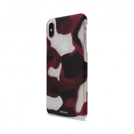 iPhone XS Max Handyhülle Artwizz Camouflage Clip - Rot-Weiss