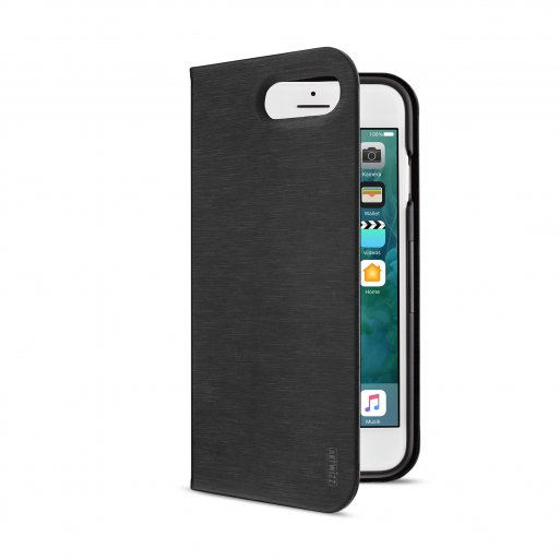 iPhone 7 Plus Handyhülle Artwizz SeeJacket Folio · Hochwertiges Folio mit Standfunktion + Magnetverschluss für iPhone 7 Plus & 8 Plus (5.5'') mit Wireless Charging Support - Schwarz