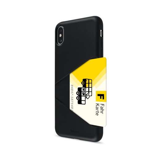 iPhone XS Max Handyhülle Artwizz TPU Card Case - Schwarz