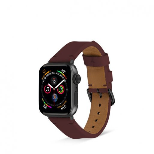 Apple Watch 5 40mm Armband Artwizz WatchBand Leather 38/40mm - Braun