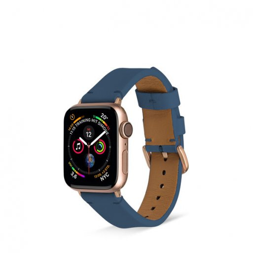 Apple Watch 5 40mm Armband Artwizz WatchBand Leather 38/40mm - Dunkelblau