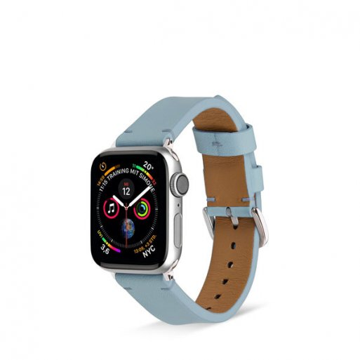Apple Watch 5 40mm Armband Artwizz WatchBand Leather 38/40mm - Hellblau