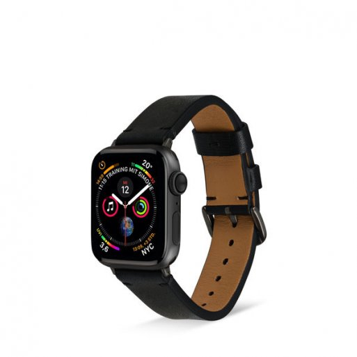 Apple Watch 5 40mm Armband Artwizz WatchBand Leather 38/40mm - Schwarz