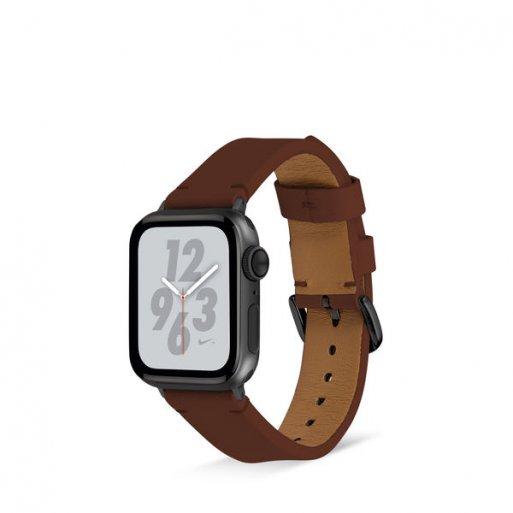 Apple Watch 5 44mm Armband Artwizz WatchBand Leather 42/44mm - Braun