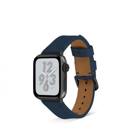 Apple Watch 5 44mm Armband Artwizz WatchBand Leather 42/44mm - Dunkelblau