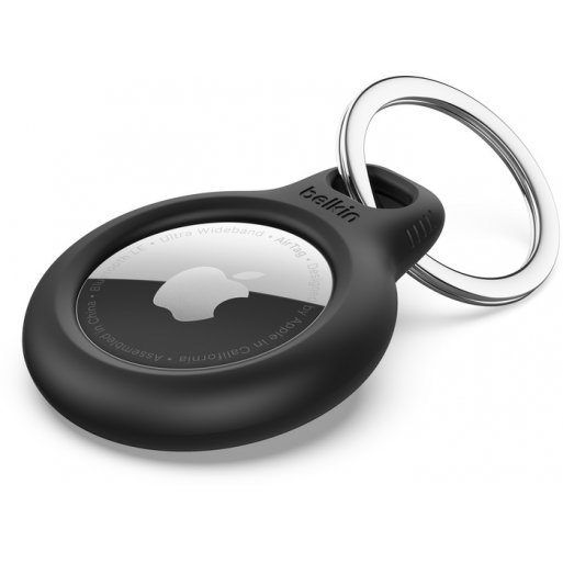 iPad Gadget Belkin Secure Holder for Apple AirTag with Keyring - Black