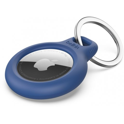 iPad Gadget Belkin Secure Holder for Apple AirTag with Keyring - Blue