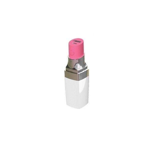 iPhone Powerbank Benjamins Lipstick Powerbank - Weiss-Pink