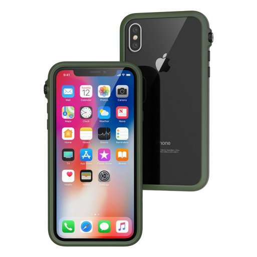 iPhone XS Handyhülle Catalyst Impact - Grün-Schwarz