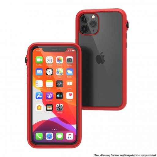 iPhone 11 Pro Handyhülle Catalyst Impact Schock Resistentes Case - Rot