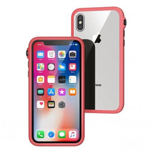 iPhone XS Handyhülle Catalyst Impact Schockresistentes Case - Rot-Schwarz