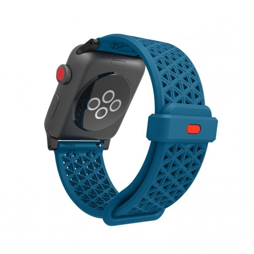 Apple Watch 5 44mm Armband Catalyst Sport Band 42/44mm - Blau-Rot