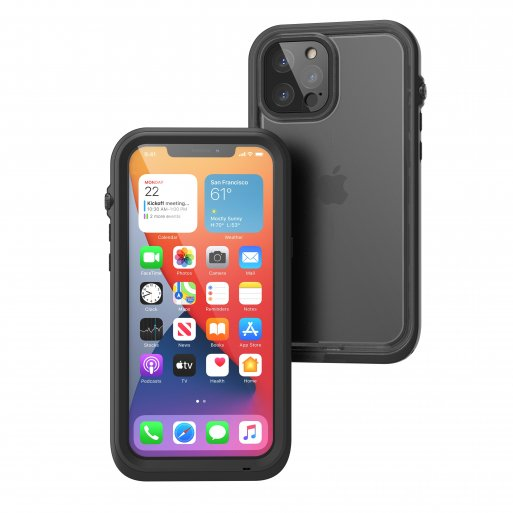 iPhone 12 Pro Max Handyhülle Catalyst Total Protection Case - Schwarz