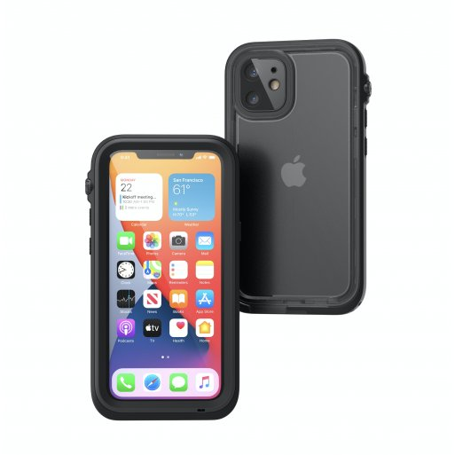 iPhone 12 Handyhülle Catalyst Total Protection Case - Schwarz