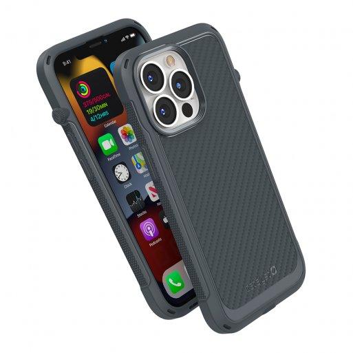 iPhone 13 Pro Max Handyhülle Catalyst Vibe Schock Resistentes Case - Grau
