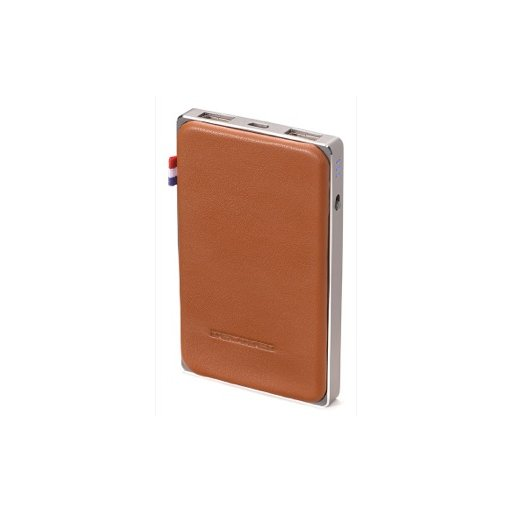 iPhone Powerbank Decoded 6000mAh Leather Powerbank - Braun