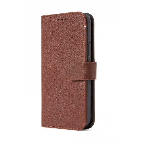 iPhone 12 Handyhülle Decoded Detachable Leather Wallet - Braun