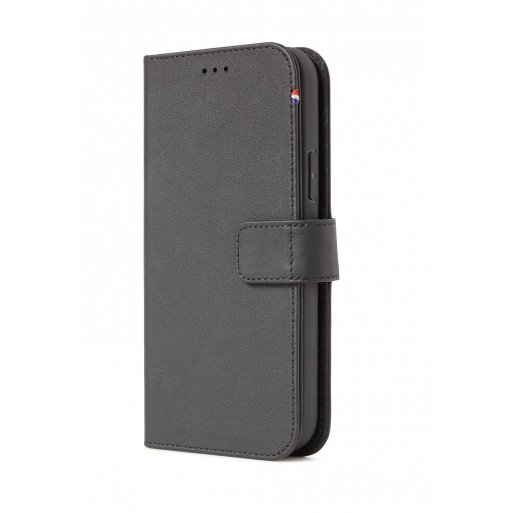 iPhone 12 Handyhülle Decoded Detachable Leather Wallet - Schwarz
