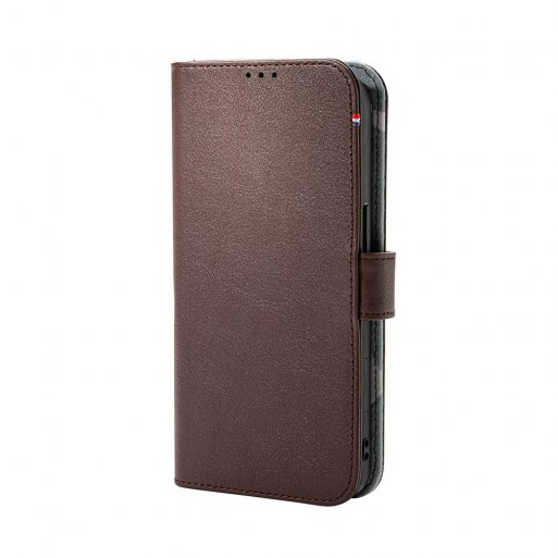 iPhone 13 Handyhülle Decoded Detachable MagSafe Leather Wallet - Braun