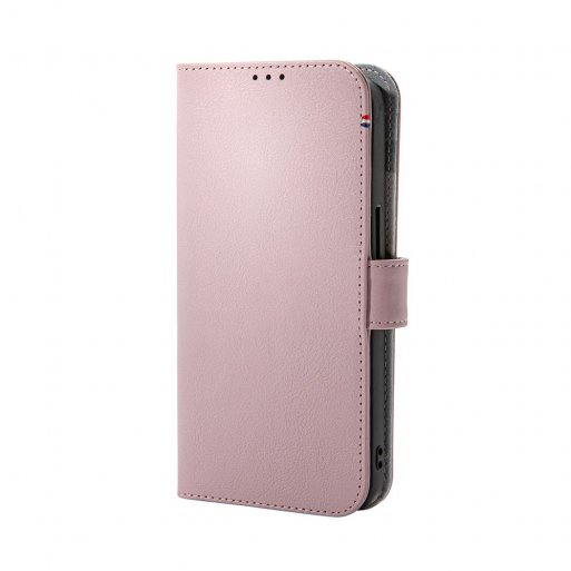 iPhone 13 Pro Handyhülle Decoded Detachable MagSafe Leather Wallet - Rosa