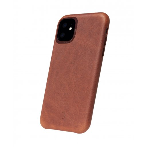 iPhone 11 Handyhülle Decoded Leather Backcover - Braun