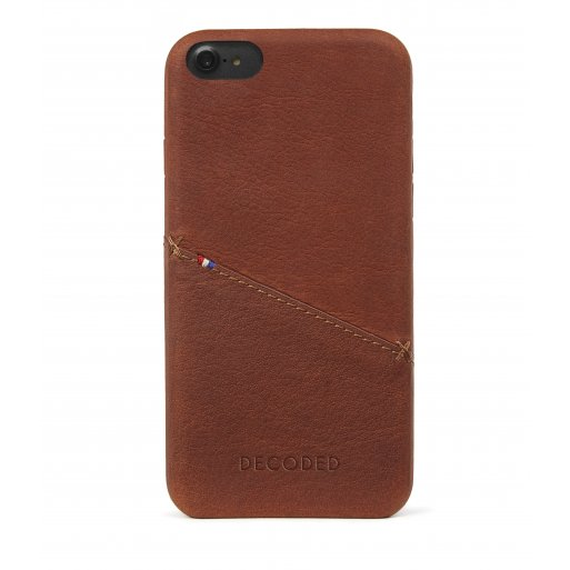 iPhone SE 2 (2020) Handyhülle Decoded Leather Backcover - Braun