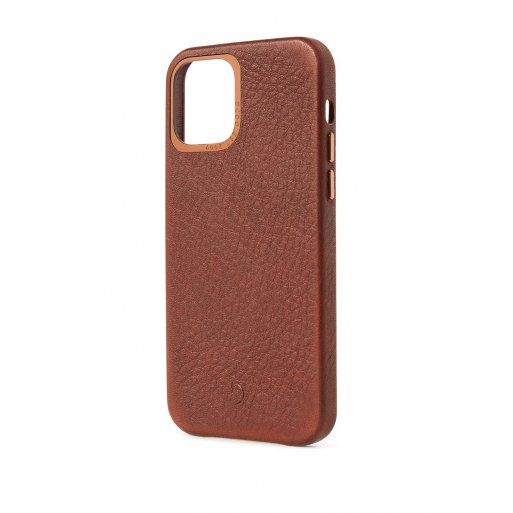 iPhone 12 Handyhülle Decoded Leather Backcover - Braun