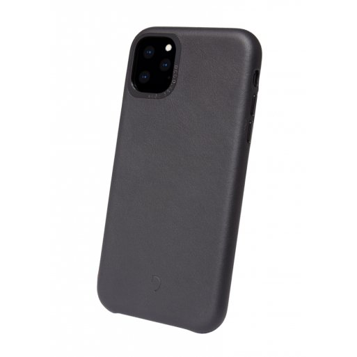 iPhone 11 Pro Handyhülle Decoded Leather Backcover - Schwarz