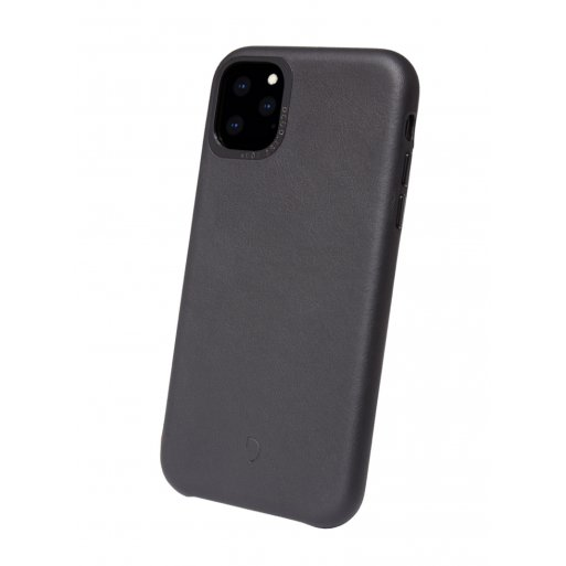 iPhone 11 Pro Max Handyhülle Decoded Leather Backcover - Schwarz