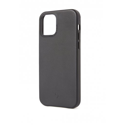 iPhone 12 Handyhülle Decoded Leather Backcover - Schwarz