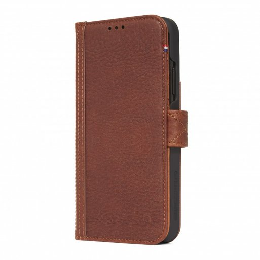 iPhone XS Max Handyhülle Decoded Leather Card Wallet - Braun
