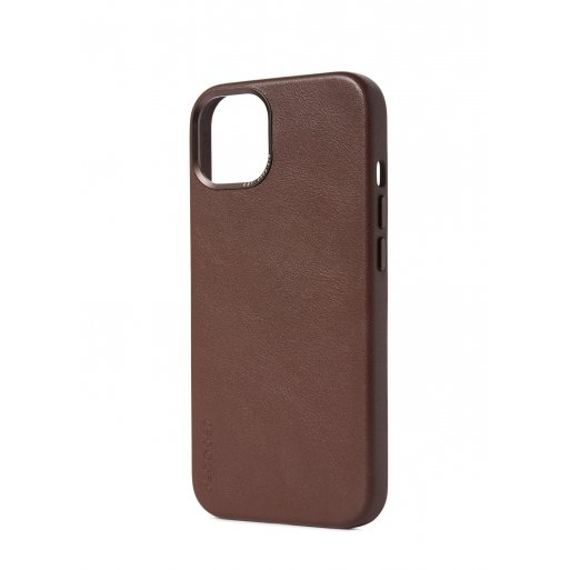 iPhone 13 Pro Handyhülle Decoded Leather Magsafe Backcover - Braun