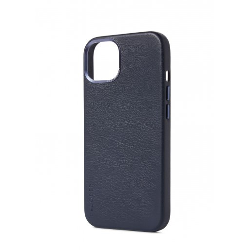 iPhone 13 Handyhülle Decoded Leather Magsafe Backcover - Dunkelblau