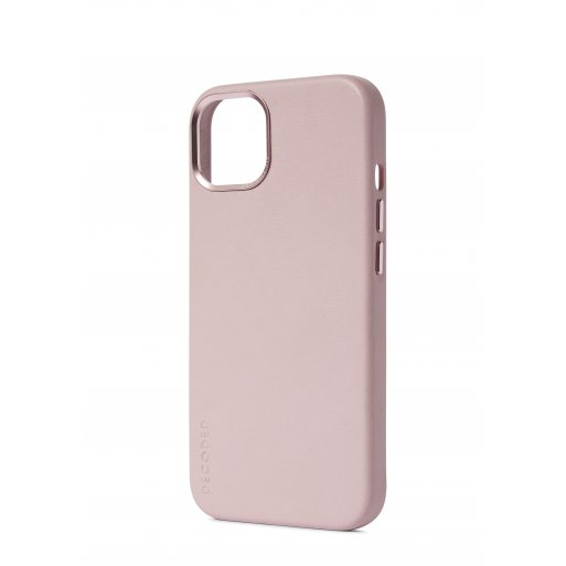 iPhone 13 Handyhülle Decoded Leather Magsafe Backcover - Rosa