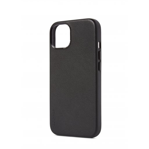 iPhone 13 Handyhülle Decoded Leather Magsafe Backcover - Schwarz