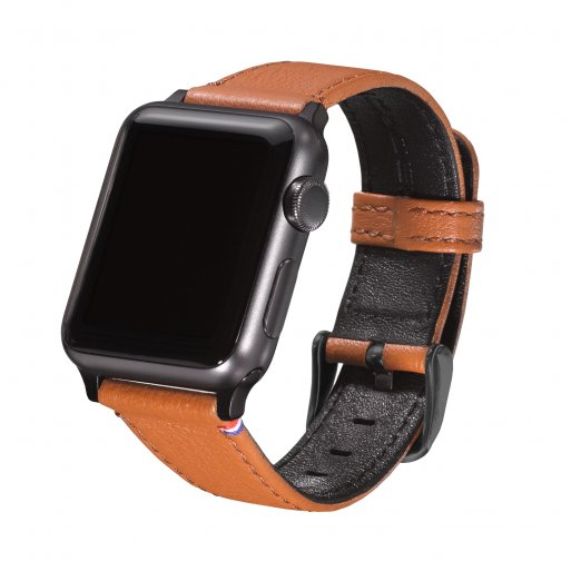 Apple Watch Armband Decoded Leather Strap 38mm - Braun