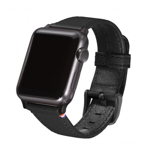 Apple Watch 1 38mm Armband Decoded Leather Strap 38mm - Schwarz