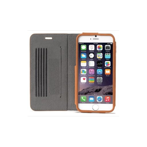 iPhone 6S Handyhülle Decoded Leather Surface Wallet - Hellbraun