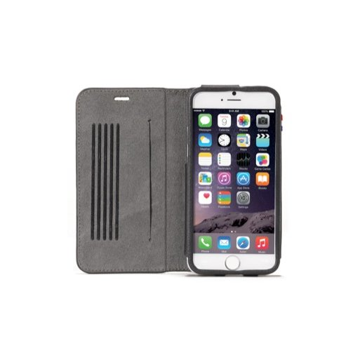 iPhone 6 Handyhülle Decoded Leather Surface Wallet - Schwarz