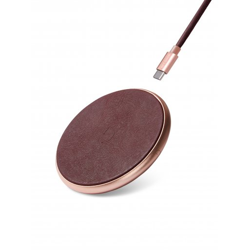 iPhone Ladestation Decoded Leather Wireless Charger - Bordeaux
