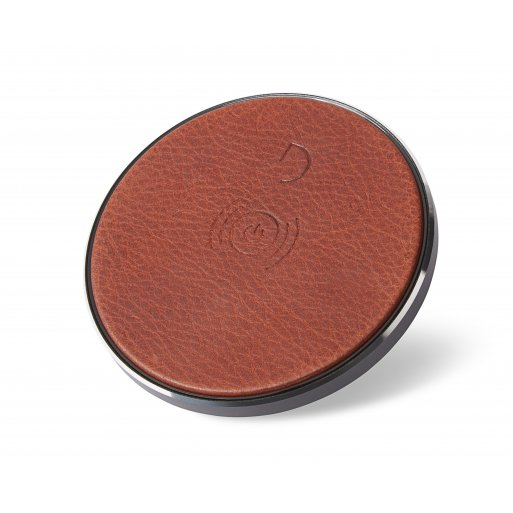 iPhone Ladestation Decoded Leather Wireless Charger - Braun