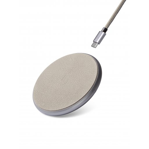 iPhone Ladestation Decoded Leather Wireless Charger - Grau